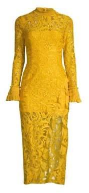 Alexis Women's Fala Lace Midi Dress - Gold Lace - Size XS