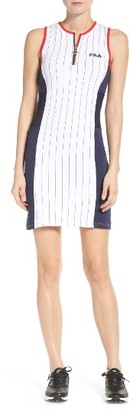 Women's Fila Crystal Quarter Zip Dress $70 thestylecure.com