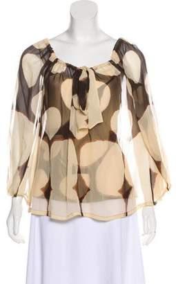 Diane von Furstenberg Mahina Silk Printed Blouse