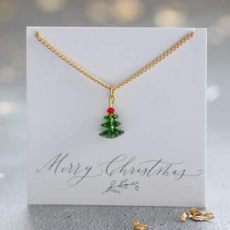 Swarovski Joy by Corrine Smith Crystal Christmas Tree Necklace