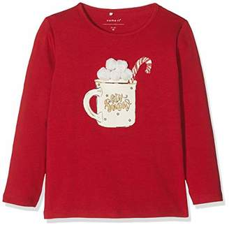 Name It Girl's Nmframas Ls Top Box Long Sleeve Jester Red, (Size: 110)