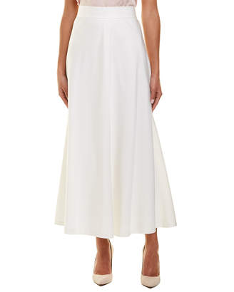 Lafayette 148 New York Gwenyth Silk-Blend Midi Skirt