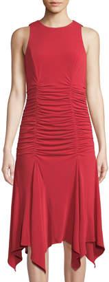 Maggy London Ruched-Bodice Godet Dress
