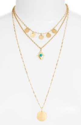 Rebecca Minkoff Triple Layer Charm Necklace