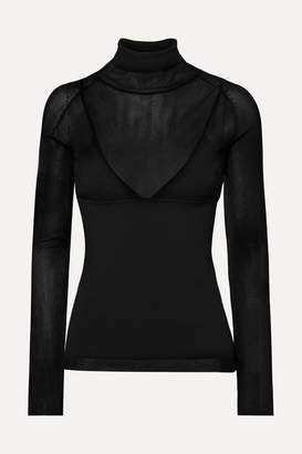 Proenza Schouler Ribbed-knit Turtleneck Sweater - Black