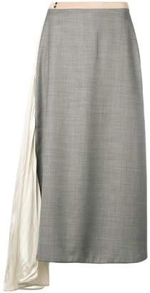 Prada A-line asymmetric midi skirt