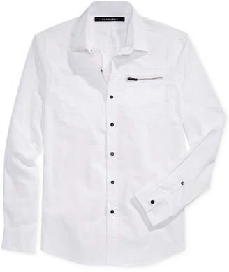 Sean John Men's Big & Tall Long-Sleeve Zip-Pocket Twill Shirt $79.50 thestylecure.com