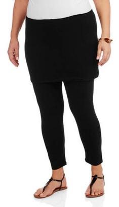 24/7 Comfort Apparel Women's Plus Size Layered Legging