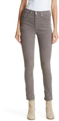 Rag & Bone High Waist Ankle Skinny Corduroy Pants