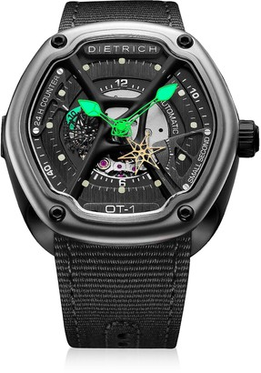Dietrich OT-1 316L Steel Men's Watch w/Green Luminova and Nylon Strap