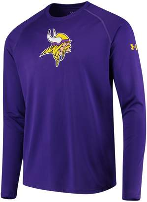 Under Armour Unbranded Men's Purple Minnesota Vikings Combine Authentic Primary Logo Tech Long Sleeve T-Shirt