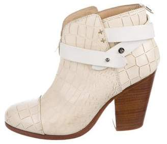 Rag & Bone Harrow Embossed Ankle Boots