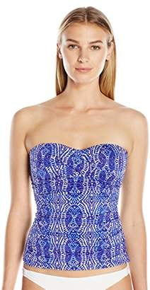 Lark & Ro Swimwear Women's Twist Bandeau Tankini Top