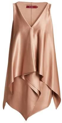 Sies Marjan - April Draped Overlay Silk Satin Top - Womens - Light Brown