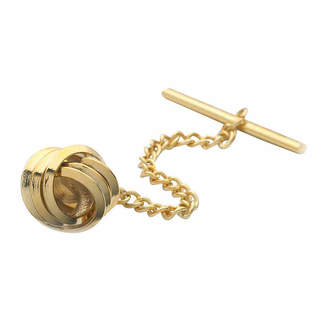 Asstd National Brand Love Knot Gold-Plated Tie Tack