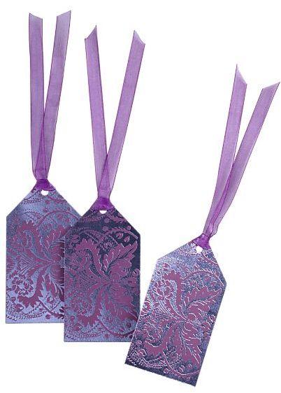 Set of 3 Marimekko® Fandango Tonal Purple Gift Tags
