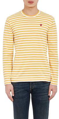 Comme des Garcons Men's Striped Long-Sleeve T-Shirt - Yellow