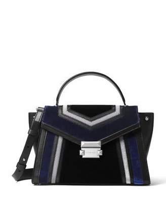 MICHAEL Michael Kors Whitney Medium Colorblock Velvet Satchel Bag