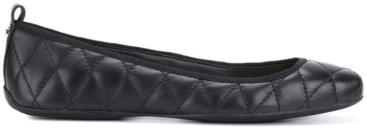 DKNY quilted flat ballerinas