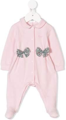 Il Gufo bow embellished pajamas