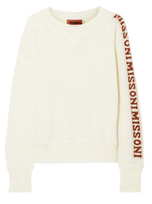 Missoni Intarsia Knitted Sweater - Cream