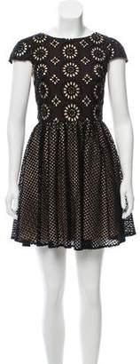 Alice + Olivia Short Sleeve Mini Dress