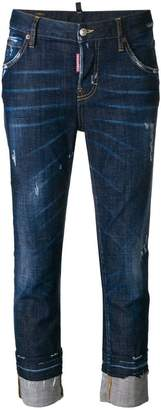 DSQUARED2 cropped washed out jeans