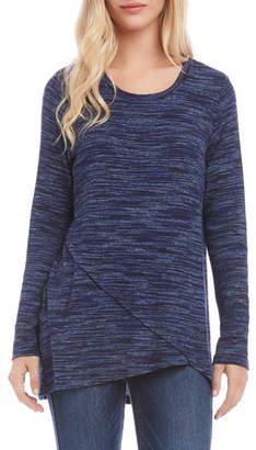 Karen Kane Cross Front Long Sleeve Blouse