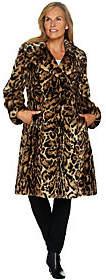 Dennis Basso Platinum Collection Faux Fur KneeLength Coat