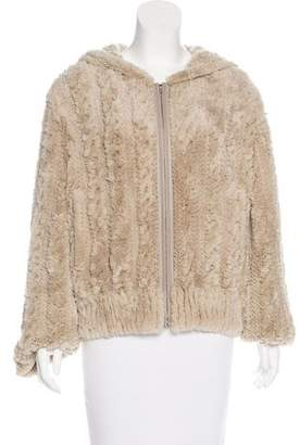 Yves Salomon Fur Hooded Jacket
