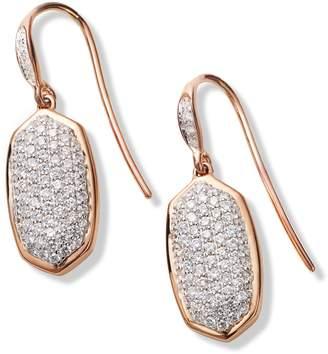 Kendra Scott Lee Diamond & Rose Gold Drop Earrings