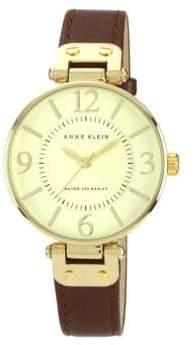 Anne Klein Ladies Brown Leather Watch