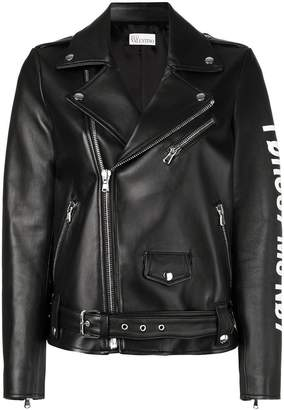 RED Valentino logo biker jacket