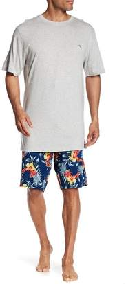 Tommy Bahama B&T Floral Woven Pajama 2-Piece Set