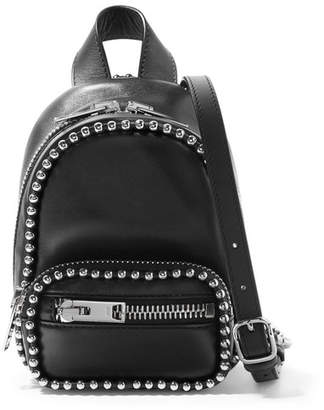 Alexander Wang Attica Studded Leather Shoulder Bag - Black
