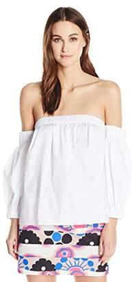 Milly Women's Cotton Poplin Off The Shoulder Blouse