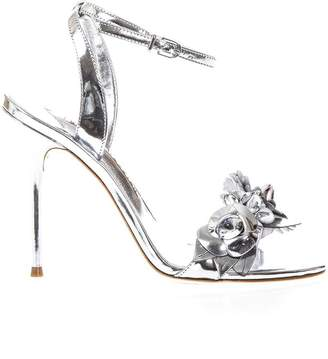 Sophia Webster Lilico Silver Leather Sandals