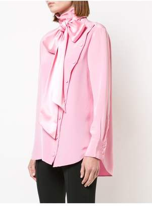 ADAM by Adam Lippes Silk Long Sleeve Blouse With Detachable Scarf