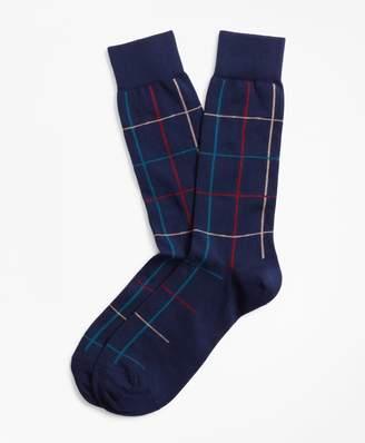 Brooks Brothers Plaid Crew Socks