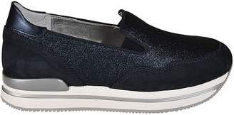 Hogan Glittered Platform Slip-on Sneakers