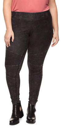 Dex Plus Cotton-Blend Moto Leggings