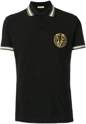 Versace embroidered logo polo shirt