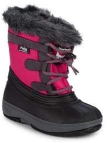 Kid's Joanie Faux Fur Trimmed Waterproof Boots
