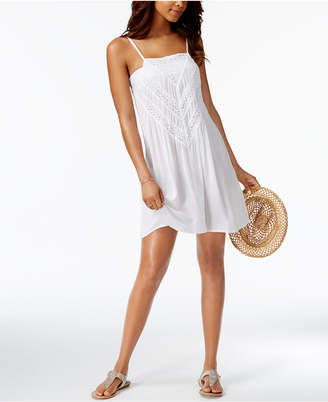 Raviya Crochet-Inset Cover-Up Women's Swimsuit $44 thestylecure.com