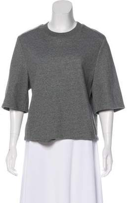 3.1 Phillip Lim Short Sleeve Knit Sweatshirt