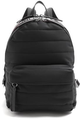 Moncler Logo Quilted Backpack - Mens - Black Multi
