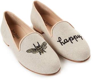 Jon Josef Natural Bee Happy Linen Loafers