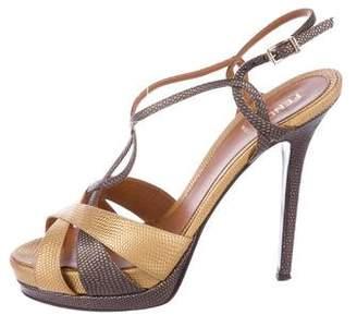 Fendi Karung Multistraps Sandals