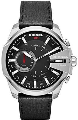 Diesel Mens ON Mega Chief Hybrid Smartwatch Stainless Steel Leather Band