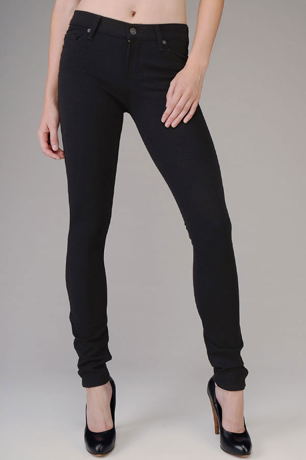 Gwenevere Super Skinny In Black Double Knit